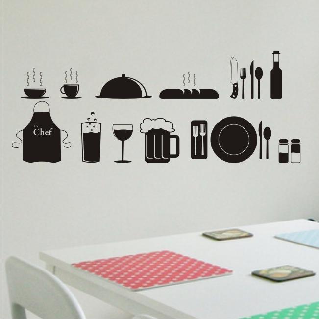 Adesivo De Parede Para Cozinha ~ Adesivo de Parede para Cozinha Papel e Decoraç u00e3o Decoraç u00e3o