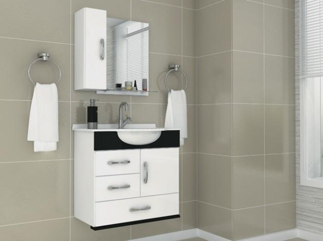 Armário Pequeno para Banheiro  Gabinete e Modelos  Decoração -> Armario Para Banheiro Pequeno Casas Bahia