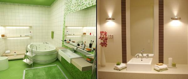 Azulejo para Banheiro Decorado  Cores e Modelos  Decoração -> Decoracao Azuleijo Banheiro