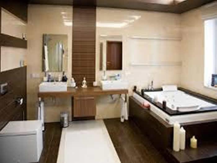 Banheiro Pequeno Decorado com Porcelanato  Pisos e Acessórios  Decoração -> Banheiro Pequeno Decorado Com Porcelanato