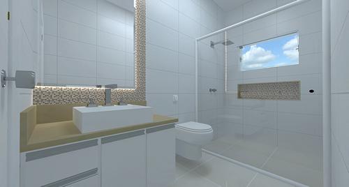 Banheiro Social  Fotos e Modelos  Decoração -> Decoracao Para Banheiro Social Pequeno