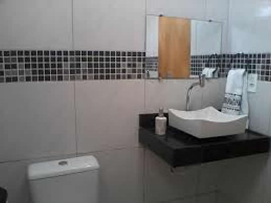 Banheiro Social  Fotos e Modelos  Decoração -> Decorar Banheiro Social