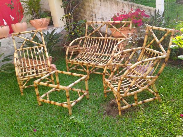 decoracao jardim bambu:Cadeira de Bambu para Jardim – Mesa e Móveis