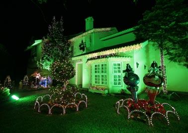 Varandas decoradas para o natal