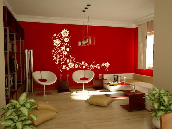 Combina es de cores para parede textura e adesivo decora o - Simulador de pintura para paredes ...
