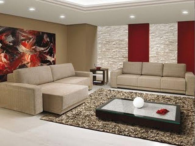 Ideias Para Pintar A Sala De Estar ~ Cores para Sala  Móveis e Decoração  Decoração