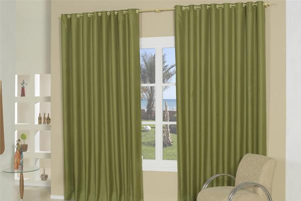 decoracao de sala verde:Cortina Verde para Sala – Modelo e Tecido