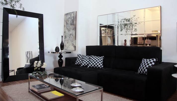 com Sofá Preto – Fotos e Sala # decoracao de sala sofa preto