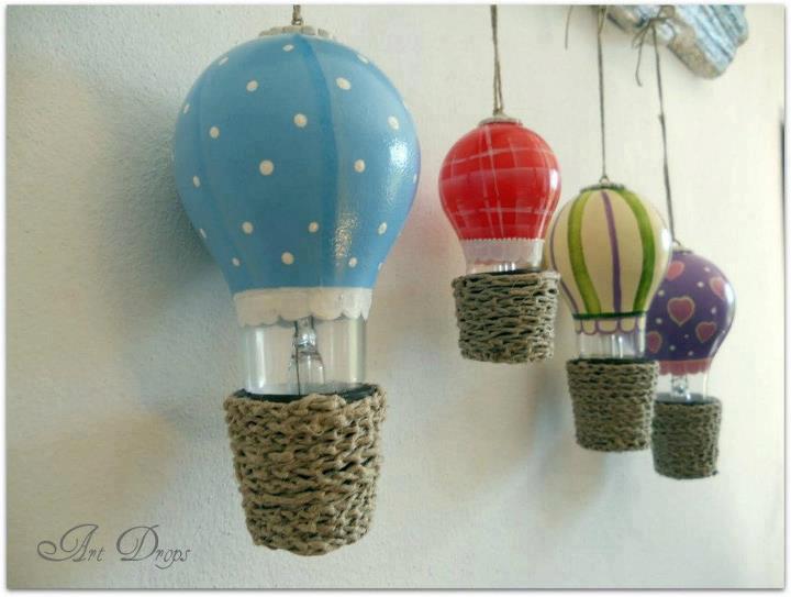 decoracao para lampadas : decoracao para lampadas:Enfeites para Lâmpadas – Iluminação e Artesanato