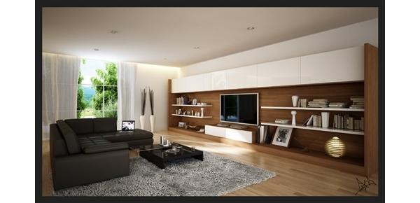 Fotos de salas modernas decoradas e jantar decora o for Imagenes de salas modernas
