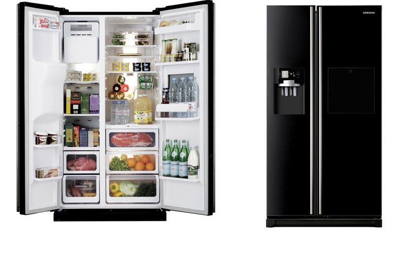 Geladeira Preta Moderna - Refrigerador e Frost Free   Decoração