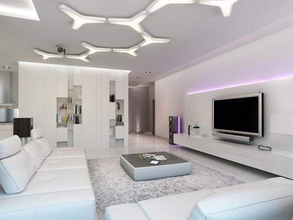 Interiores de salas modernas m veis e decora o decora o for Interiores de salas modernas