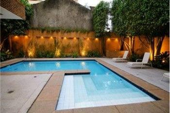 Jardim com piscina casa e decora o decora o for Piscinas e jardins