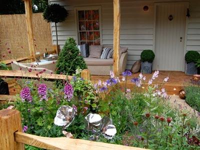 Jardim de Quintal Pequeno - Flores e Paisagem Decora??o