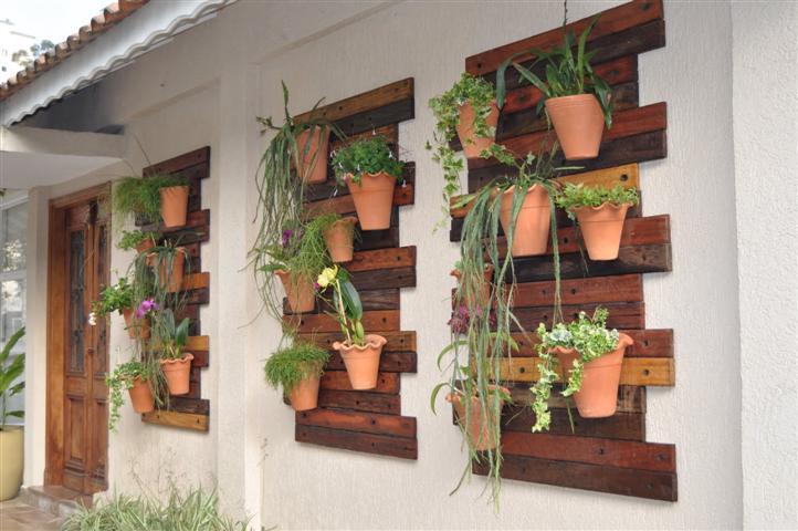 flores jardins pequenos:Vertical Wall Garden