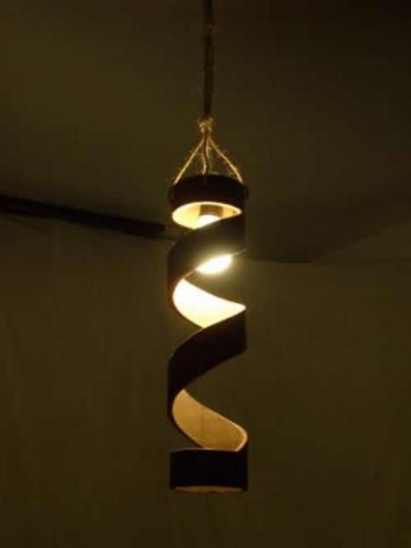 Artesanato Luminaria De Bambu ~ Luminária de Bambu Artesanal e Rústica Decoraç u00e3o