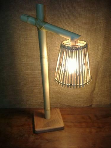 Luminária de Bambu - Artesanal e Rústica | Decoração