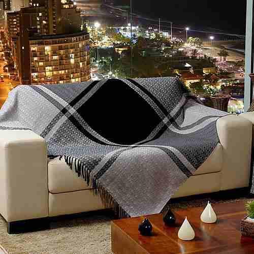 Manta para sof capa e chaise decora o for Manta no sofa como usar
