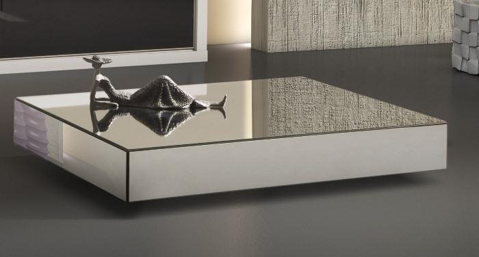 Mesa de centro para sala espelhada madeira e vidro - Mesa de centro sala ...
