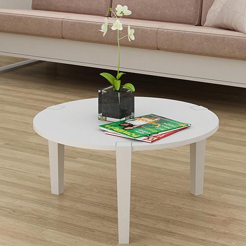 Mesa de centro redonda madeira e vidro decora o - Mesa de centro grande ...