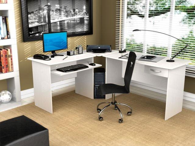 Mesa de escrit rio vidros e computador decora o for Mesas de escritorio modernas