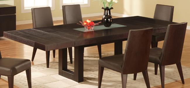 Mesa de jantar moderna vidro e madeira decora o - Mesas redondas modernas ...