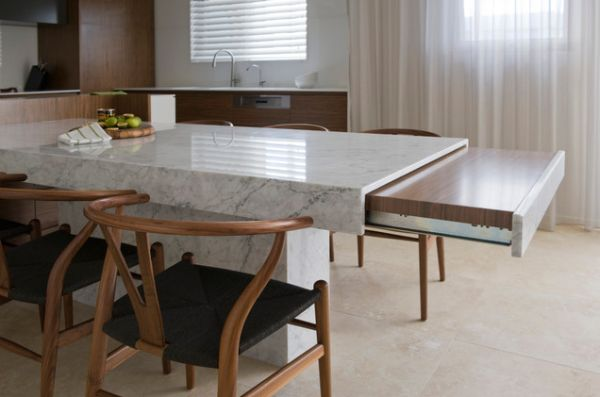 Kitchen Island With Pull Out Dining Table~ Decoracao Cozinha Pequena Quadrada