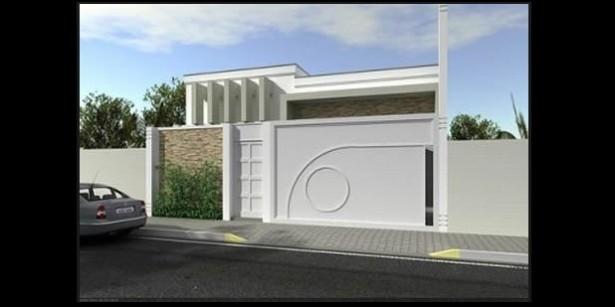 Muros decorados textura e pedra decora o for Modelos de frentes para casas