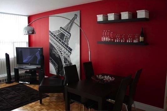 Sala De Estar Vermelha E Preta ~ Sala com Parede Vermelha  Tinta e Cores  Decoração