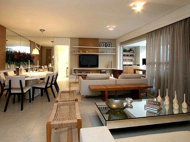Sala com varanda gourmet modernas e decoradas decora o for Sala de estar gourmet