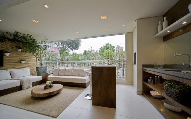 Sala De Tv Na Varanda ~ Sala com Varanda Gourmet  Modernas e Decoradas  Decoração