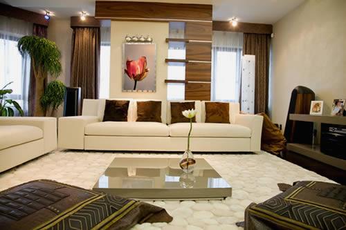Sala de estar moderna m veis e cores decora o for Sala de estar moderna grande