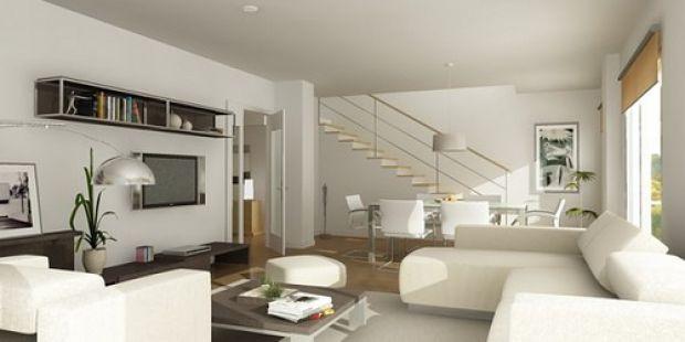Sala de estar moderna m veis e cores decora o for Salas pequenas e modernas