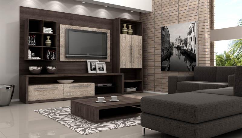 Sala de estar planejada m veis e sof decora o - Armarios para sala de estar ...
