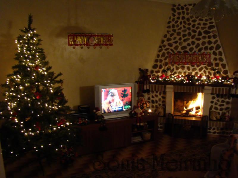 Sala Pequena Decorada Para O Natal ~ Sala Decorada para o Natal  Árvore e Presépio  Decoração