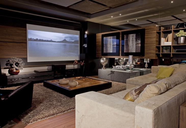 Sala De Estar E Tv Aconchegante ~ Sala Moderna e Aconchegante  Móveis e Decoração  Decoração