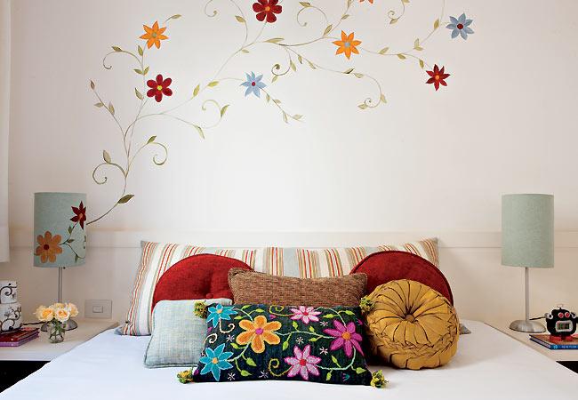 Pintura de flores na parede desenhos e papel decora o - Pinturas de paredes ...