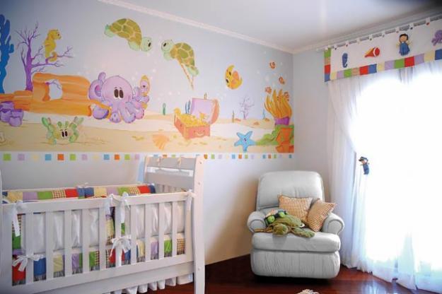 Pintura para quarto infantil bebe e modelos decora o - Pintura infantil pared ...