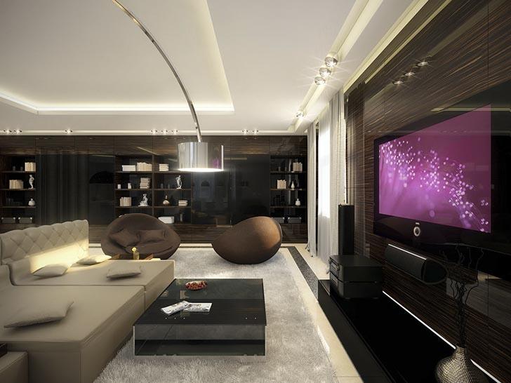 Salas elegantes e modernas m veis e decoradas decora o for W and p design