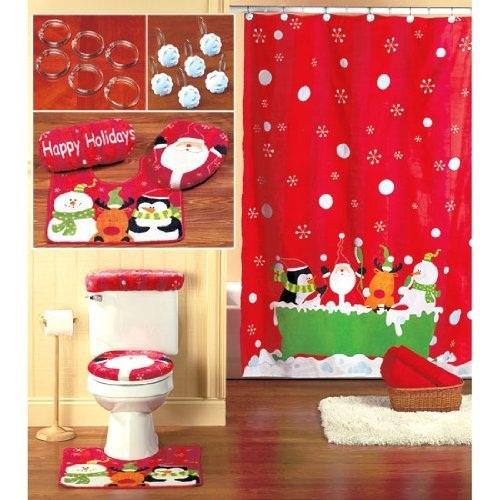 decoracao de lavabo para o natal:Decoração de Natal para Banheiro – Acessórios e Objetos
