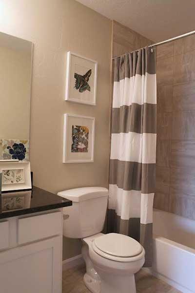 Quadros Decorativos para Banheiro  Modelos e Bonitos  Decoração -> Banheiro Decorado Quadros